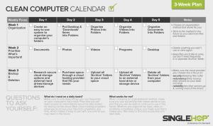SingleHop Computer Calendar