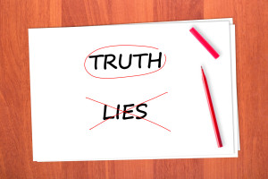 We overcome lies with the truth