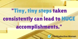 Tiny steps make a difference