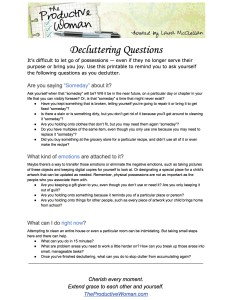 your decluttering guide