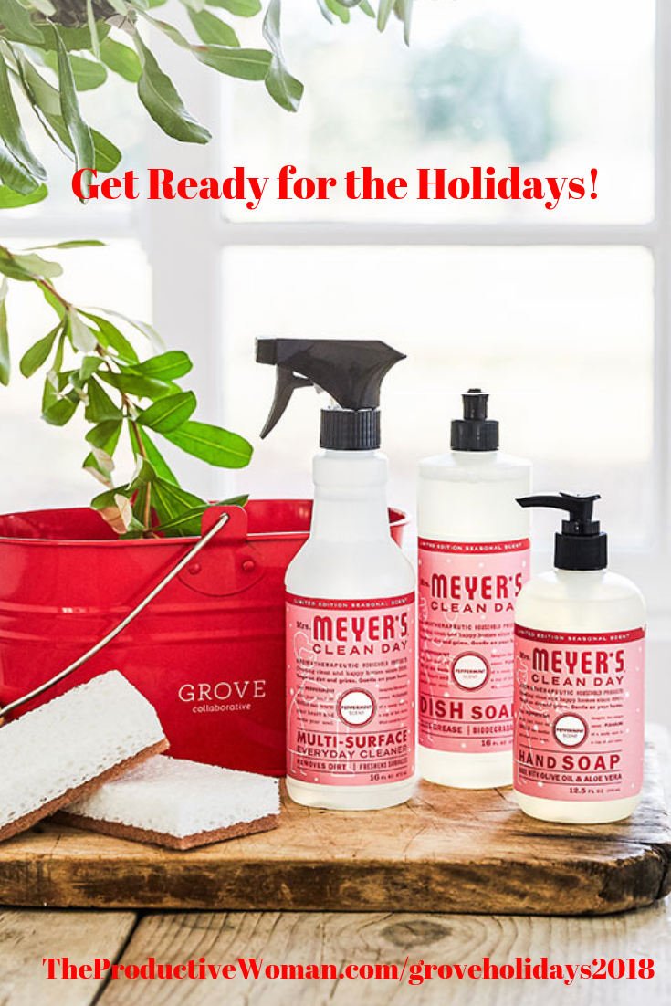 Get ready for the holidays with this special offer. Here's your chance to get a pretty red caddy filled with holiday-scented Mrs. Meyer's cleaning products from Grove Collaborative--FREE with your $20 order! Check it out: http://influencer-tracking.grove.co/SF3BZ