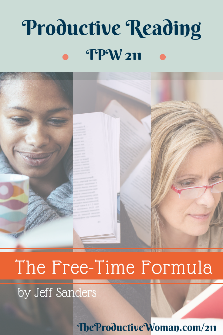 Episode 211 of The Productive Woman podcast is the next installment in our recurring Productive Reading series, with a look at key takeaways from The Free-Time Formula, the newest book by Jeff Sanders of The 5 AM Miracle Podcast. Find more at TheProductiveWoman.com/211.